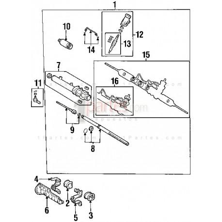Cajetín / cremallera de dirección - Kit de reparación