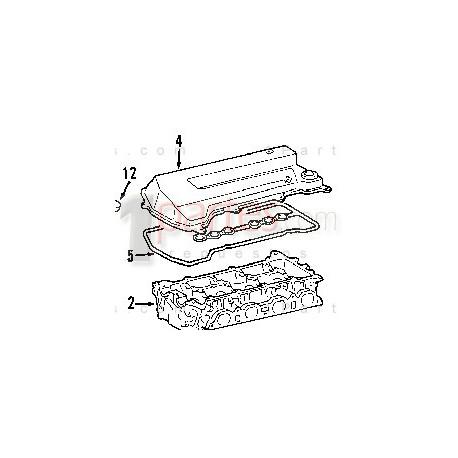 Junta (sello, empaque, empacadura) de tapa válvulas